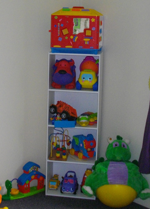 A shelf version of the TIDY TOY BOX. Rotated weekly.