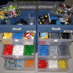 Jai's Lego all sorted into the drawer compartments!