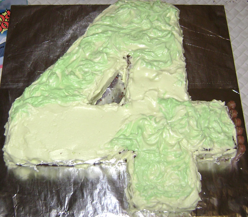 Ice the cake with two greens!