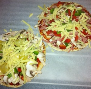 Home made Pita Pizzas