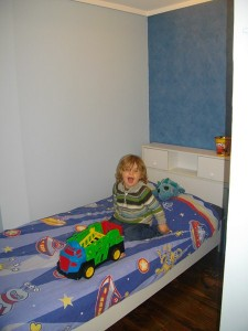 Levi in his new bedroom