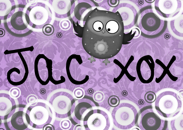 the name jac with an owl