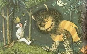 Picture from the book where the wild things are.