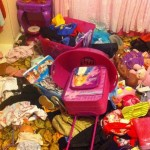 The mess in our girls room.