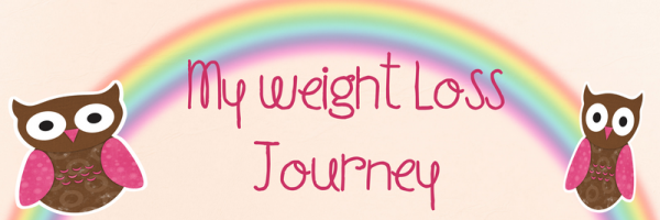 Rainbow weight loss banner.