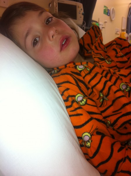 Veruca sick in hospital
