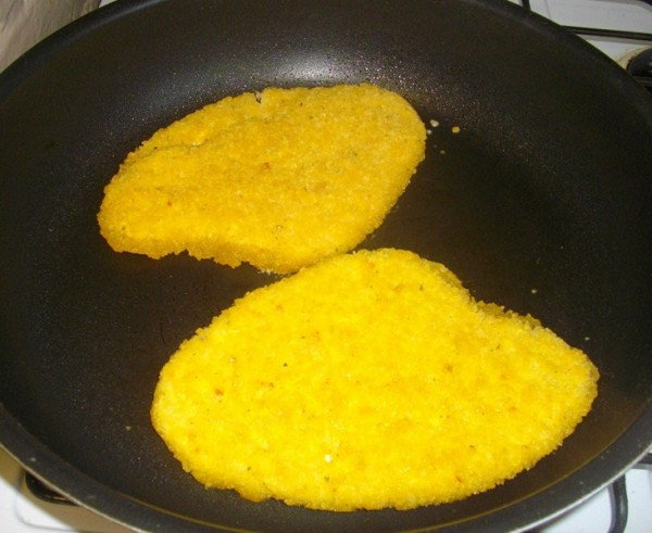 Chicken cooking in a fry pan