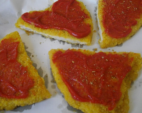 Tomato paste on chicken
