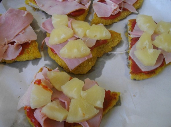 Chicken with ham, pineapple