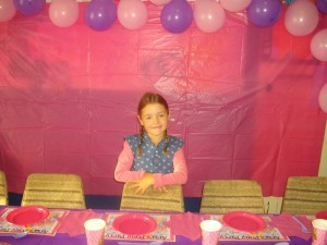 Aria at her 7th birthday party