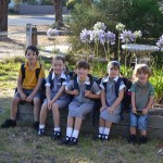 Jai, Aria, Zafirah, Veruca & Levi on the first day of Term 1 2012.