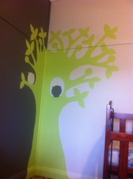 Painted Tree On Wall