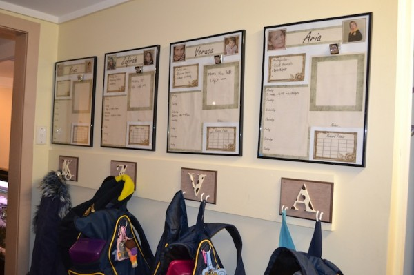 Picture Frames and Bag Rack
