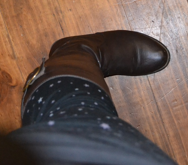 leggings and boots