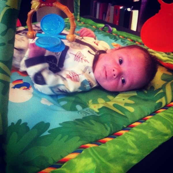 Eli on play mat