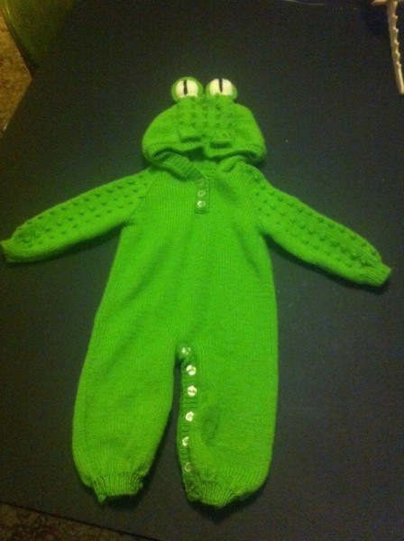 Grandmas frog suit