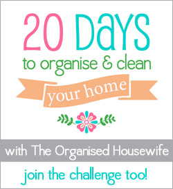 20 Days to Clean & Organise your Home