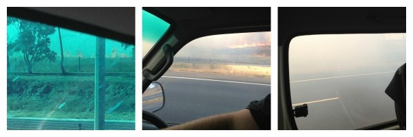 Fire on ring road
