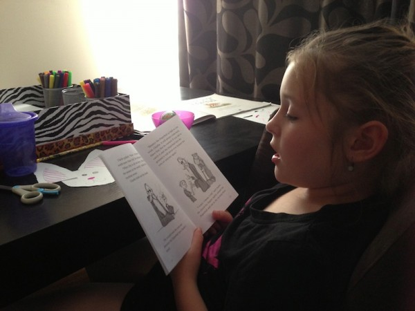 Aria at the Homework Station