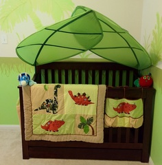 Cot with Ikea Leaves