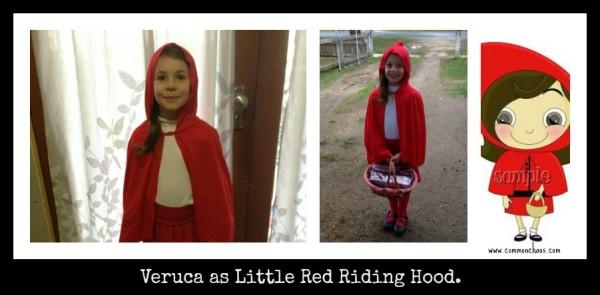 Veruca as red riding hood