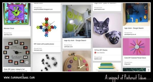 Pinterest Clock Ideas