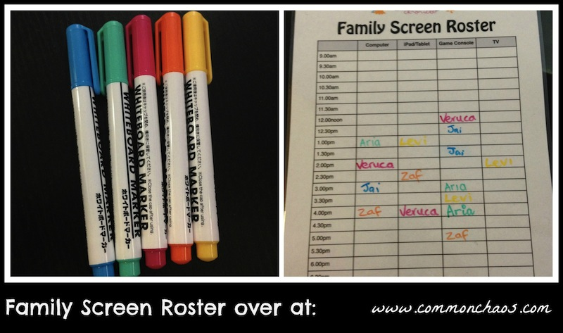 Family Screen Roster 2