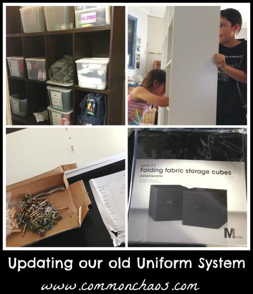 new uniform storage