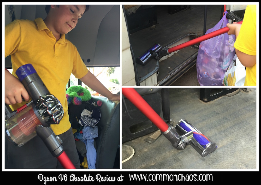 Kids can use the V6 Dyson