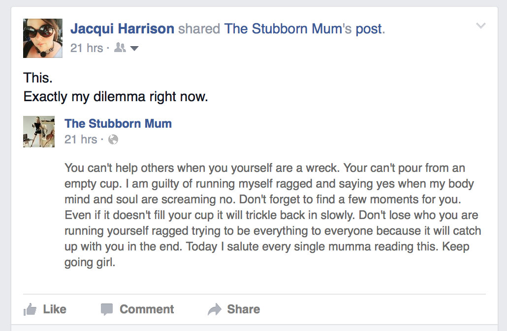 The Stubborn Mum
