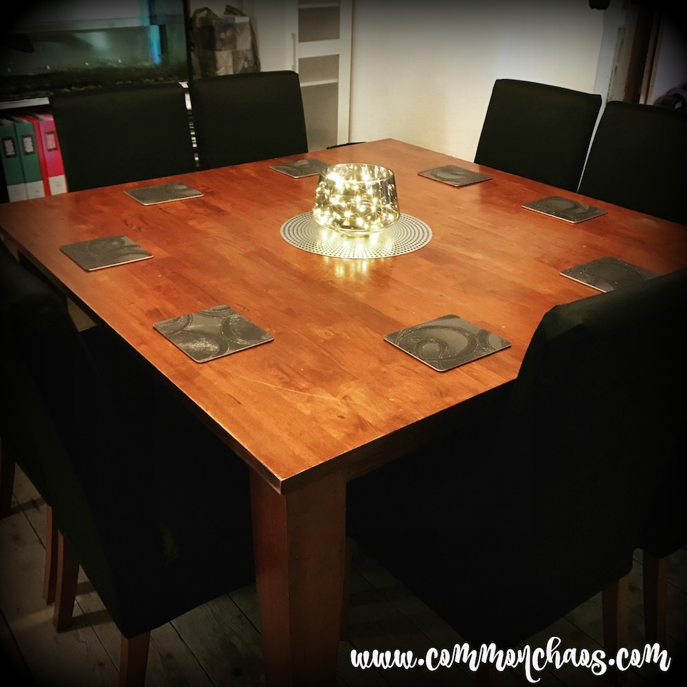 Dining setting, revamped